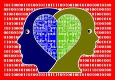 Влюбленн в компьютерная технология иллюстрация вектора