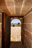 в arrecife Лансароте castillo de las coloradas Испании старый w Стоковое Изображение RF