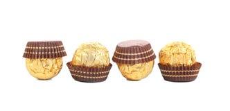 4 в bonbons шоколада строки. Стоковое Изображение RF