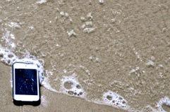 В iPhone Песк-iPod Стоковое Изображение