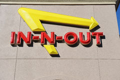 В-N-вне знаке бургера Стоковое Фото