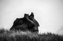 ГААГА, НИДЕРЛАНДЫ - 22-ОЕ ОКТЯБРЯ 2015: Известные абстрактные скульптуры на вертепе Haag - городе Голландии Стоковое Изображение