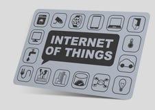 габаритная иллюстрация 3 интернета объектов вещей Стоковое фото RF