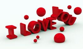 габаритная модель 3 влюбленности I вы бесплатная иллюстрация