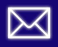 габарит электронной почты иллюстрация вектора