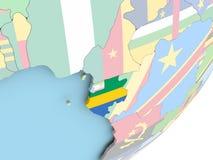 Габон с флагом бесплатная иллюстрация