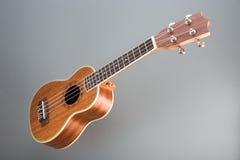 Гаваиская гитара гавайской гитары на серой предпосылке Стоковые Изображения RF