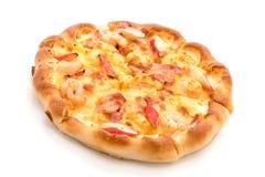 гаваиская пицца морепродуктов изолированная на белой предпосылке Стоковое Изображение RF