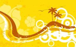 Гаваиская тропическая предпосылка рамки пляжа Стоковая Фотография
