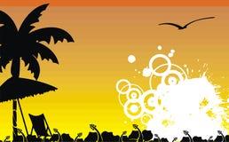 Гаваиская тропическая рамка background9 пляжа Стоковые Фотографии RF