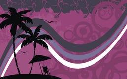 Гаваиская тропическая рамка background0 пляжа Стоковое Фото