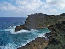 Гаваиский взгляд берега океана Стоковые Фотографии RF