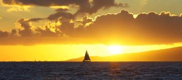 Гаваиский заход солнца Стоковое фото RF