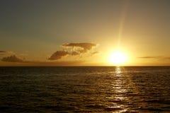 гаваиский заход солнца Стоковые Изображения