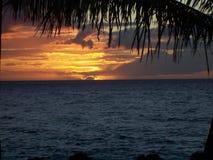 гаваиский заход солнца Стоковая Фотография