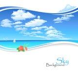 Гаваиский океан и голубое небо бесплатная иллюстрация
