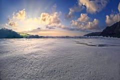 Гаваиский тропический Seascape захода солнца Стоковое фото RF