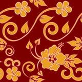 гаваиское красное безшовное Стоковые Фото