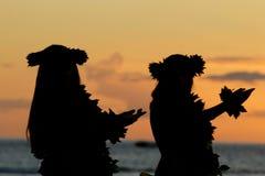 гаваиское hula стоковая фотография rf