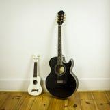 Гавайская гитара и акустическая гитара Стоковое Изображение