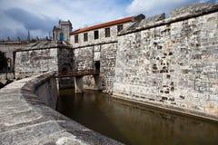 Гавана. Castillo de Ла Реальн Fuerza.Cityscape в солнечном дне стоковые фотографии rf