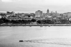 Гавана (Habana) в черно-белом Стоковые Изображения RF