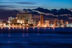 Гавана (Habana) на ноче Стоковое Изображение RF
