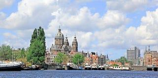 Гавань Амстердама, Голландия стоковые фотографии rf