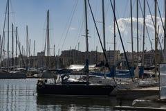 гавань Балеарский остров Майорки Марины Portixo Хи-хиа стоковые изображения rf