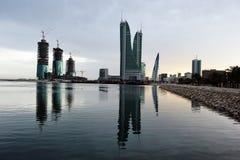 Гавань Бахрейна финансовохозяйственная Стоковые Изображения RF
