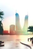 гавань Бахрейна финансовохозяйственная Стоковая Фотография