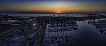 Гавань берега океана, Калифорния, США Стоковые Изображения RF