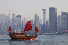 Гавань Виктории, Гонконг Стоковая Фотография