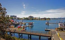 Гавань Виктории на острове Виктории в Британской Колумбии Стоковые Фотографии RF