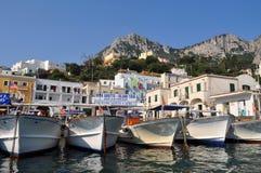 Гавань в Капри, Италия Стоковое фото RF