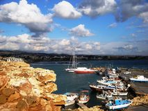 Гавань в Кипре стоковые изображения rf