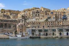 Гавань в Ла Валлетте, Мальте стоковое фото rf