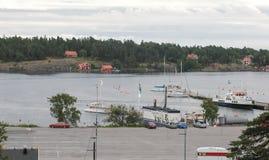 Гавань в Nacka, Стокгольме стоковая фотография rf