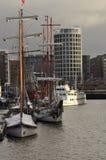 Гавань Гамбурга и портовый район города, Германия Стоковое фото RF