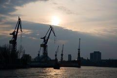Гавань Гамбурга стоковое изображение rf