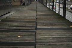 Гавань Гамбург променада Стоковые Фотографии RF