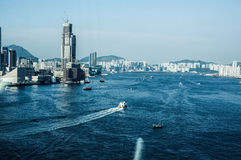 Гавань Гонконга Виктории Стоковая Фотография