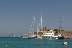Гавань городка Kos, остров Kos стоковое изображение rf