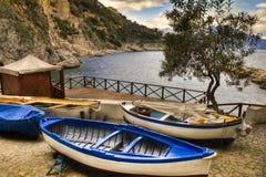 Гавань деревни Marini dei Conca (побережья Италия Амальфи) Стоковое Изображение