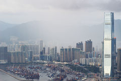 гавань 2017 западного Kowloon, Гонконга Виктории стоковое изображение rf