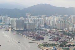 гавань 2017 западного Kowloon, Гонконга Виктории стоковое изображение