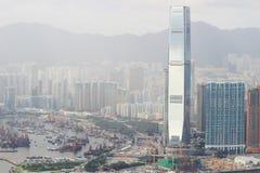 гавань 2017 западного Kowloon, Гонконга Виктории стоковые фото