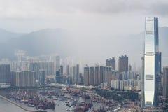 гавань 2017 западного Kowloon, Гонконга Виктории стоковое фото rf