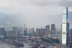 гавань 2017 западного Kowloon, Гонконга Виктории стоковые изображения rf