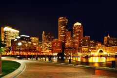 Гавань и горизонт Бостона Стоковое Изображение RF